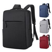 Anti-theft Mens Womens USB Charging Backpack Laptop Notebook Shoulder School Bag