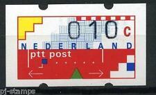 Nederland ATM automaatzegels Klussendorf nr 2 10 cent met nummer