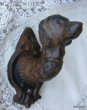 Cast Iron Dog Head Leash Hook Pet Decor Wall Holder