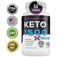 Advanced Keto 1500 Weight Loss Diet Pills BHB Ketogenic Shark Tank One Shot