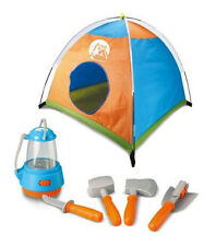 NIB PRETEND CAMPING TENT TOOLS GEAR PLAY SET W/LANTERN  BY LITTLE EXPLORER