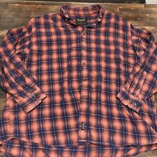 WOOLRICH Mens Size 2XL Red Plaid Long Sleeve Button Down Flannel Soft Preowned