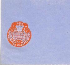 Z157 1883 GB ingresos en relieve un centavo * factura o nota * sin usar papel sellado