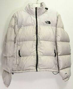 North Face Womens Active Gray 1996 Retro Nuptse 700 Down Hiking Jacket Parka M