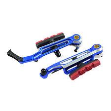 """Starry 100mm Adjustable V Brake MTB Folding Bike 406 to 451 18"""" to 20""""- Blue"""