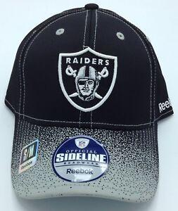 NFL Oakland Raiders Reebok Adult Structured Flex Fit Cap NEW SEE DESCRIPTION