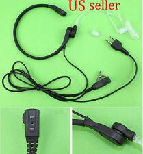 Throat Mic Headset/Earpiece For Midland 2 Way Radio XT18 XT20 XT28 GXT5000 VOX