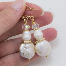 Orecchini con perle Mabè naturali e perle a goccia Gioielli Artigianali Preziosi