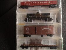 MICRO-TRAINS # 23252 BN MERGER (4) PACK NP, CB&Q, SP&S, GN FALLEN FLAGS #5