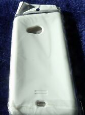 2 x Silicon Gel Phone Covers for Nokia Lumia 535 Black and White