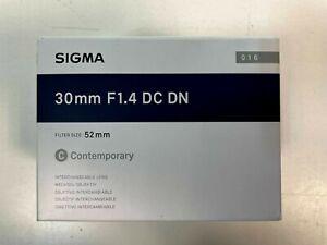 Sigma 30mm f/1.4 DC DN Contemporary Lens for Sony E-Mount Cameras