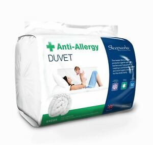 16.5 Tog Extra Warm Anti-Allergy, Hollowfibre Duvet Quilt, Heavy, Made In The UK