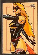 Marvel-Dangerous Divas-Mauro Fodra-Ms Marvel-Art-Comic-Drawing-Sketch Card