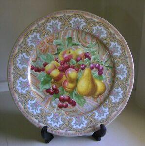 "Philippe Deshoulieres Limoges Patrick Frey Chamarande 12"" Cake Plate Platter"