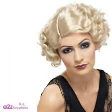 20's Flirty Blonde Flapper Wig Adult Ladies Womens 1920s Fancy Dress Accessory