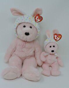 Bonnet Bear Ty Store Beanie Baby Buddy Pink Bear Plush Bunny Ears