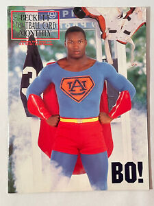 1991 Beckett Football Card Monthly January  Edition with Bo Jackson Superman