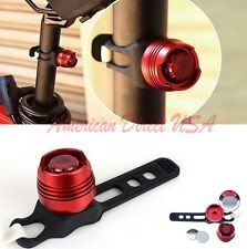 New Bike Bicycle Red LED Rear Light 3 modes Waterproof Tail Lamp Black