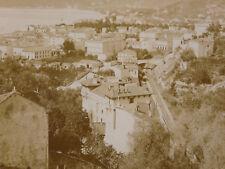 Photographie ancienne Vue de Menton la Baie Ouest et le Cap Martin Monaco azur