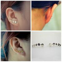 Sweep Wrap Jewelry Ear Clip Moon Phases Climber Cuffs  Earrings