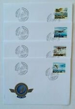 4 Enveloppes FDC timbres Suisse 2010. YT CH 2066/69. Aviation suisse. Avions