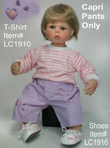 NEW - Lee Middleton Original Baby Doll Clothes #1477 Lavender Capris NWT