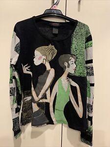 Custo Barcelona Designer Long Sleeve Top RRP $199