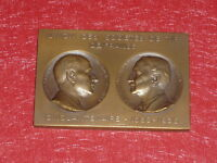 [Coll.J.DOMARD SPORTS]RARE PLAQUE BRONZE CINQUANTENAIRE SOCIETES TIR FRANCE 1936