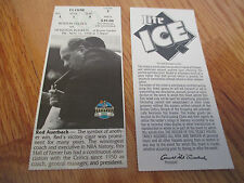 Game 2 RED AUERBACH Last Season BOSTON CELTICS 11/11/94 TICKET Boston Garden