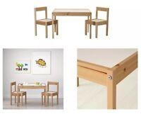 Childrens Table & 2 Chairs Set IKEA Latt