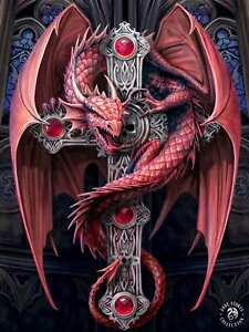 ANNE STOKES ART GOTHIC GUARDIAN DRAGON -  3D PICTURE PRINT LARGE 300mm x 400mm