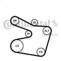 CONTITECH V-Ribbed Belt Set 6PK1538K2