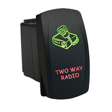 Rocker Switch 6B36GR Laser TWO WAY RADIO dual backlit LED green red 12V SPST