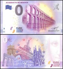 Zero (0) Euro Europe, 2017 - 1 (1st Print), UNC, Acueducto De Segovia in Spain