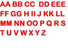 40 ironing letters, Red, 5cm