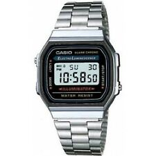 Casio A168 Classic Retro Unisex Digital Stainless Steel Alarm Watch