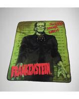 Frankenstein Monster Halloween Plush Fleece Throw Blanket Zombie Movie Mug Shot