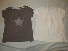LOT de 2 T-SHIRTS FILLE MC VERTBAUDET (Tons Gris) T3 ANS TBE