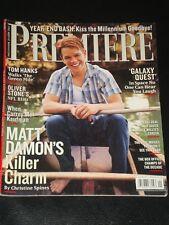PREMIERE magazine 2000, Matt Damon, Oliver Stone, Tom hanks, Bruce Willis, RARE