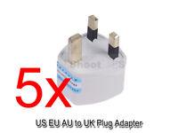 5 US EU AU Australia to UK United Kingdom AC Power Plug Adapter Travel Converter