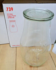 Einmachgläser WECK 2 5 Liter 2700 Ml Tulpe 4 St
