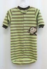 Carters Sleep Sack Monkey Striped Green Brown Fleece Baby One Size B270