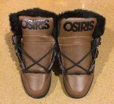 Osiris NYC 83 Shearling Size 6.5 Brown Black BMX DC MOTO Skate Shoes $85 Box