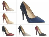 New Ladies Ombre Party Fashion Evening Pointed Stiletto Court Shoes size 345678