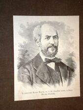 Patriota e Senatore Mauro Macchi di Milano Morto nel 1880