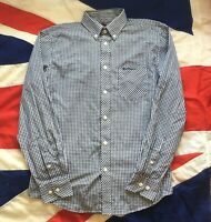 MENS BEN SHERMAN HERITAGE GINGHAM CHECK MOD SCOOTER LONG SLEEVE SHIRT SMALL