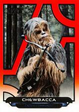 Star Wars Galactic Files (2018) ORANGE PARALLEL BASE Card ROTJ-21 / CHEWBACCA