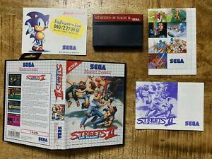Streets of Rage II / 2- SEGA Master System - OVP / CIB - PAL / EUR - Top / MINT