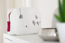 CLARINS Bolsa De Maquillaje Con Flores Blancas