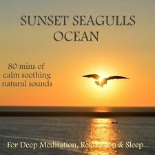 NATURE  SOUNDS CD -SUNSET, SEAGULLS & OCEAN WAVES S FOR RELAXATION CALM MIND